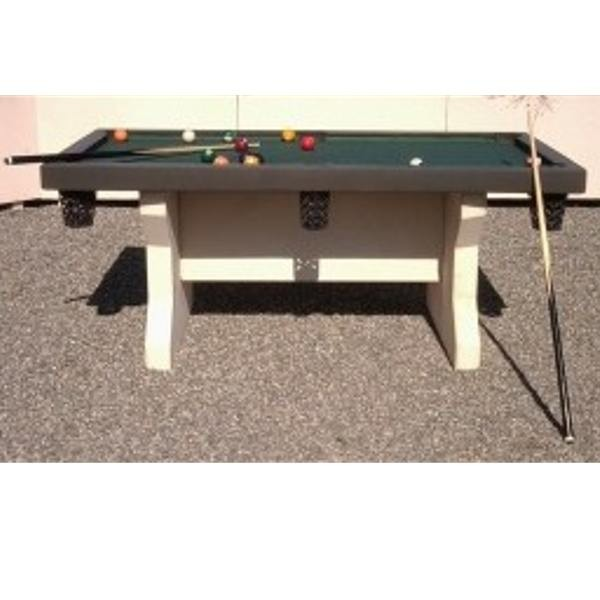 table de billard en b ton ansemble. Black Bedroom Furniture Sets. Home Design Ideas