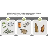 Kit 3 autocollants pour corbeille Guyenne tri sélectif
