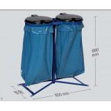 Poubelles de déchets doubles pour 2 sacs de 120 litres