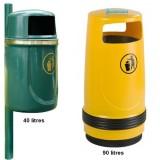 Corbeille plastique AUNIS 40 et 90 litres