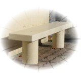 Banquette en beton Epicea finition blanc naturel.