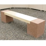 banquette beton Peuplier pieds gravillons lame blanc naturel