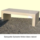 Banquette Sylvestre finition blanc naturel
