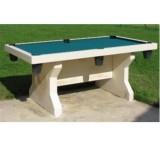 Table de billard ivoire et tapis vert