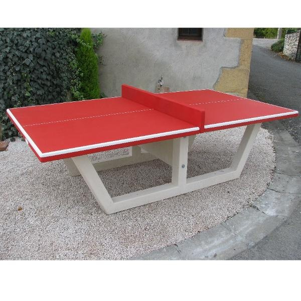 Table ping pong en b ton arm - Table ping pong exterieur beton ...