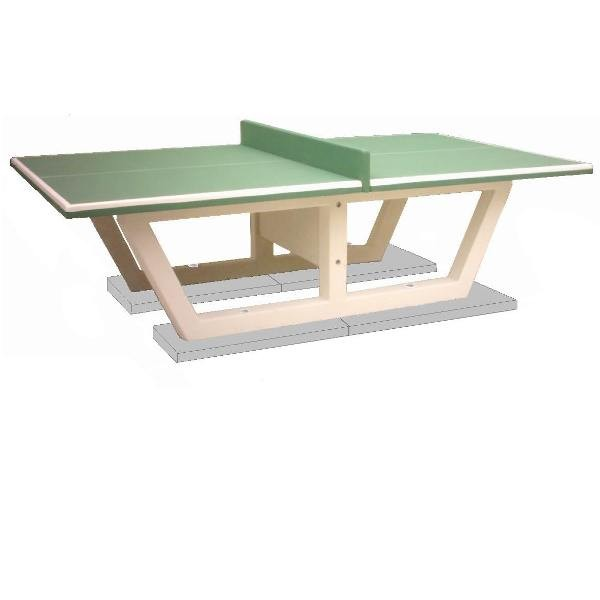 Table ping pong en b ton arm ansemble for Table de ping pong exterieur intersport