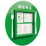 Vitrine restaurant le menu