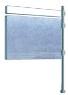 Panneau drapeau avec titre H 1225 x 1670